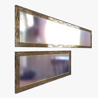mirror custom metal frame 3D model