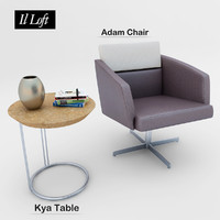 3D adam armchair table model