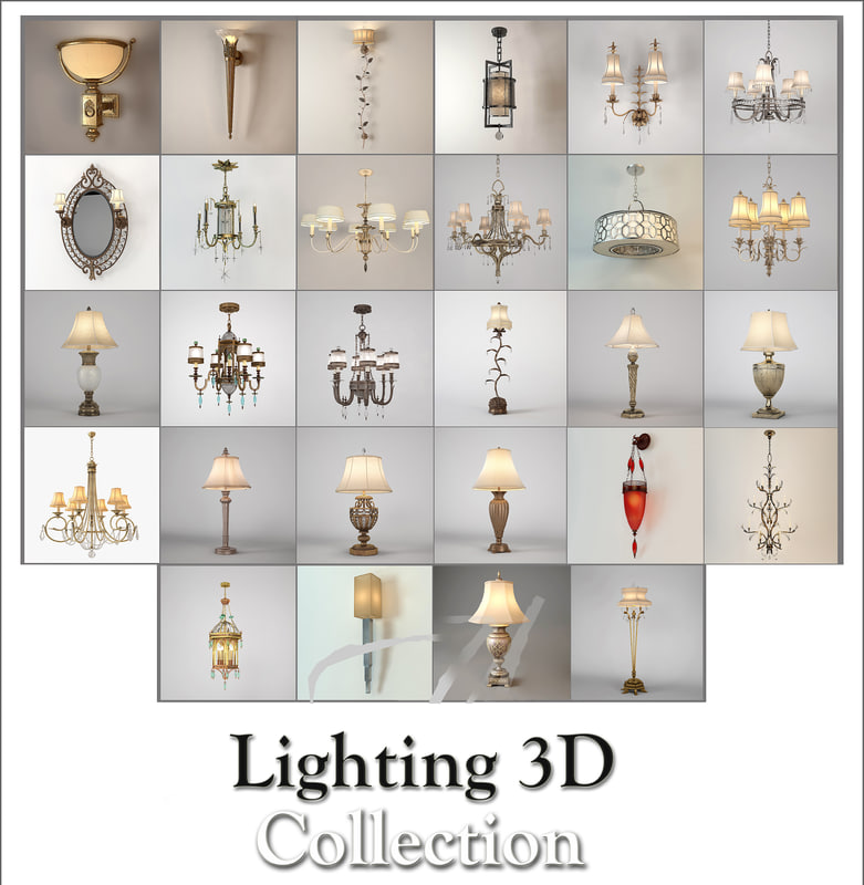 fine art lamps collected 3D