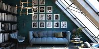 living room C4D+vray