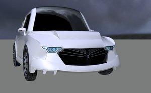 3D foxia concept model