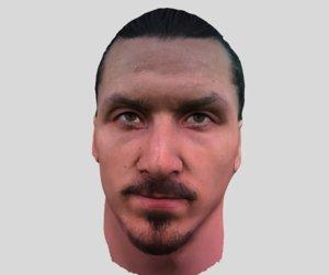 3D zlatan ibrahimovic face