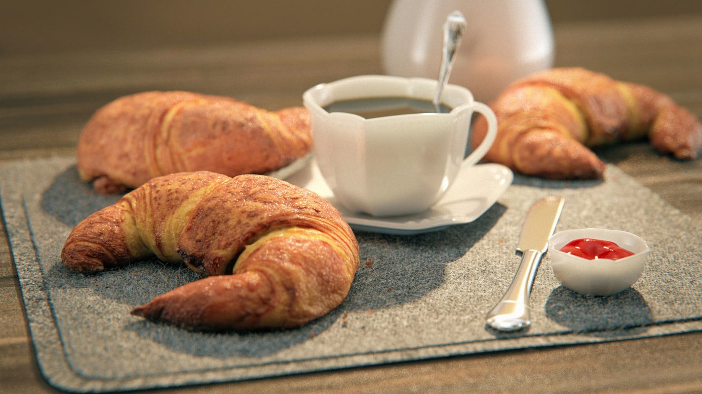 3D photogrammetry croissant model