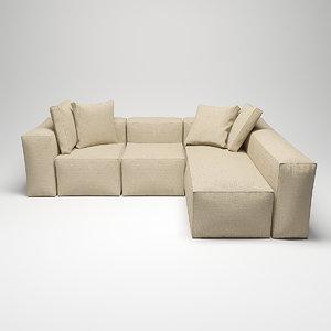 3D loft sofa