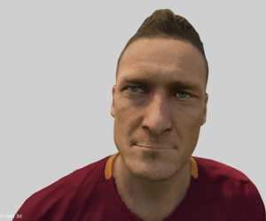 francesco totti bust 3D model