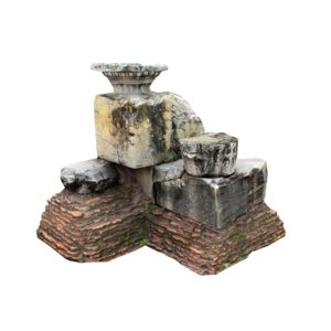 stone wrecked building 3D model