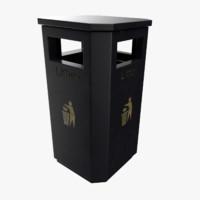 public trash bin 3D
