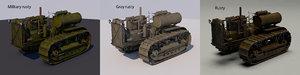 stalinets s-60 soviet tractor 3D model