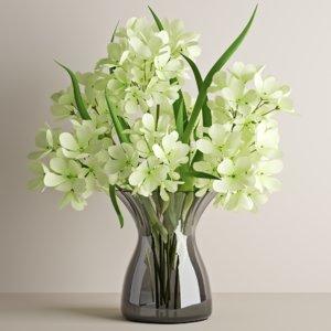 bouquet geranium 3D model