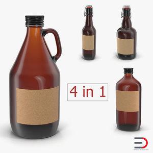 cold brew bottles 3D