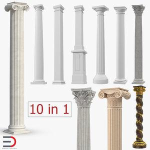3D columns 4 model