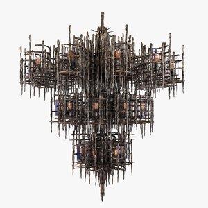 chandelier sconce custom stalactite 3D