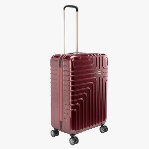 3D suitcase case red model