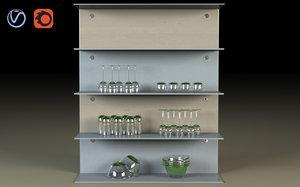kitchen shelf 3D model