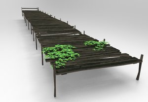 beach walkway 3D model