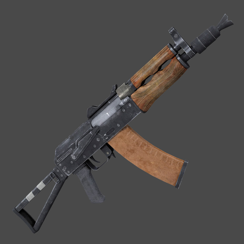 3D assault rifle aks74 model