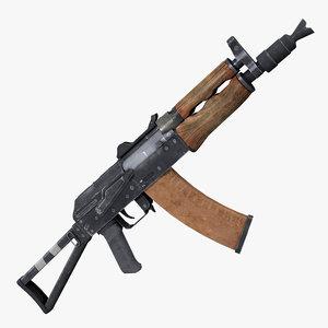 3D assault rifle aks74 model