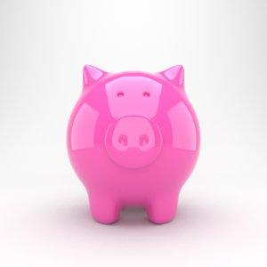 piggy bank pig 3D