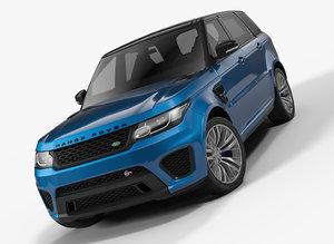 3D model range rover sport svr