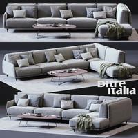 ditre italia elliot corner sofa 3D model