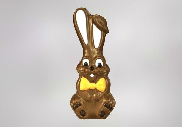 easter chocolate bunny model