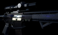 3D rifle precise scope