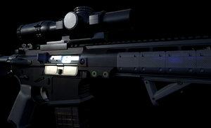 3D rifle precise scope