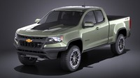 3D model chevrolet colorado zr2