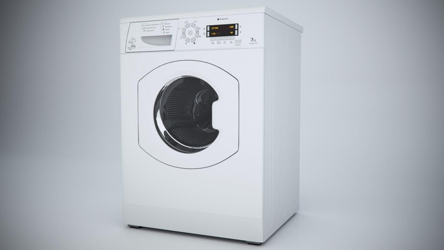 3D washing machine hotpoint wmao743k