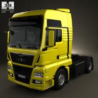 3D model man tgx tractor