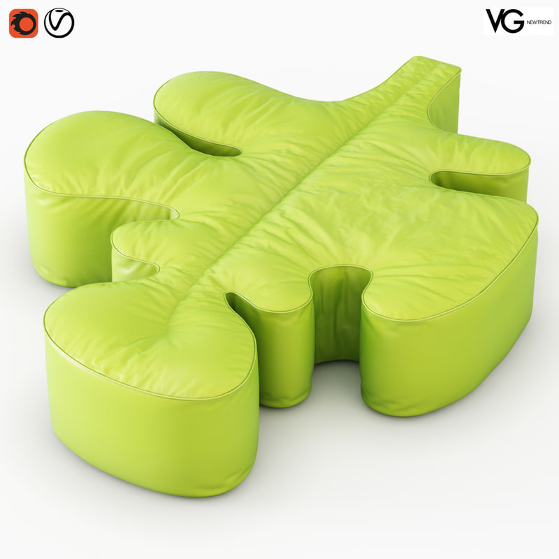 3D pouf quercia