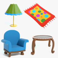 Cartoon Furniture Set 2