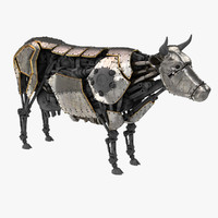 Cow Steampunk Robot
