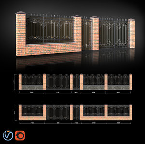 3D wrought iron gate fence
