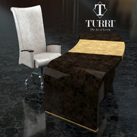 table chair turri 3D model