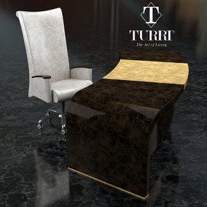 table chair turri 3D model
