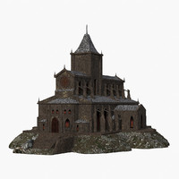 3D model cathedral realistic games