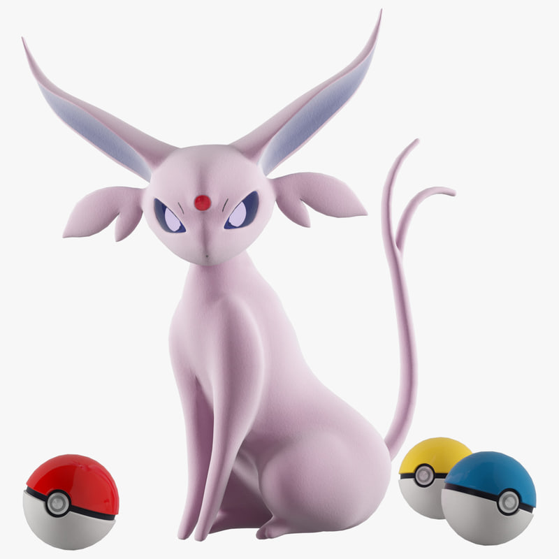 espeon pokemon 3D model