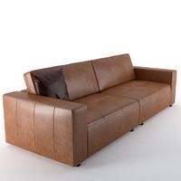 leather sofa 3D