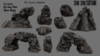 rock cave mountain 3D model