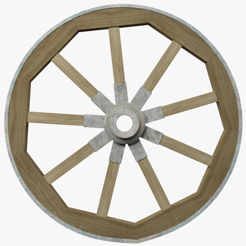 3D model wagon wheel