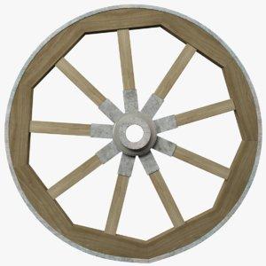 3D model wagon wheel