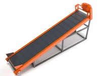 conveyor green black 3D model