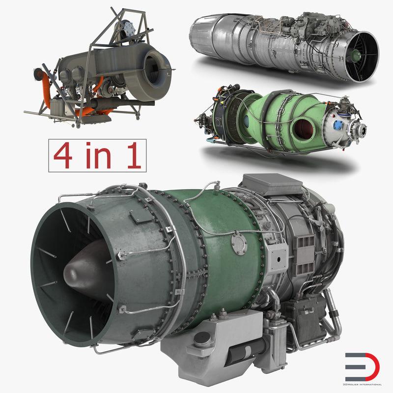turbofan engines 3 3D model