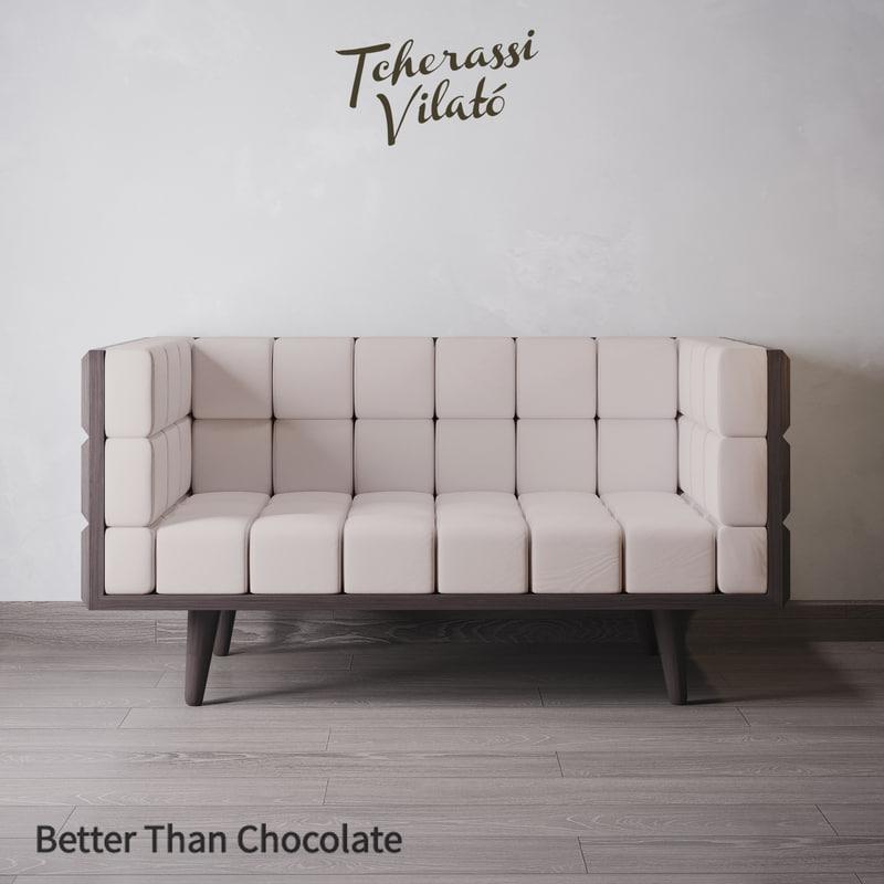 sofa chocolate better 3D