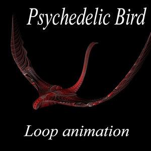 psychedelic bird 3D model