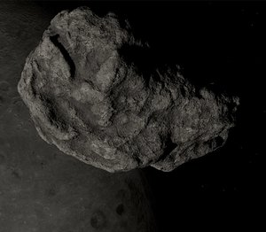 3D model realistic asteroid