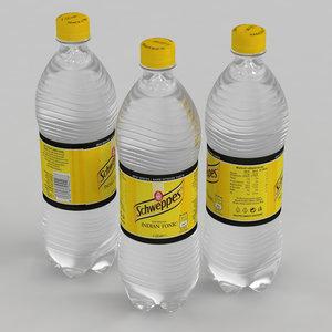schweppes tonic beverage 3D model