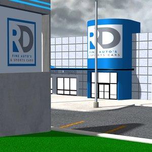 3D car dealership poser