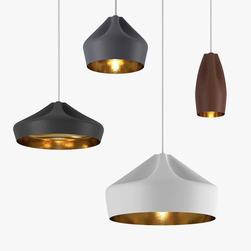 3D model marset pleat box lamp